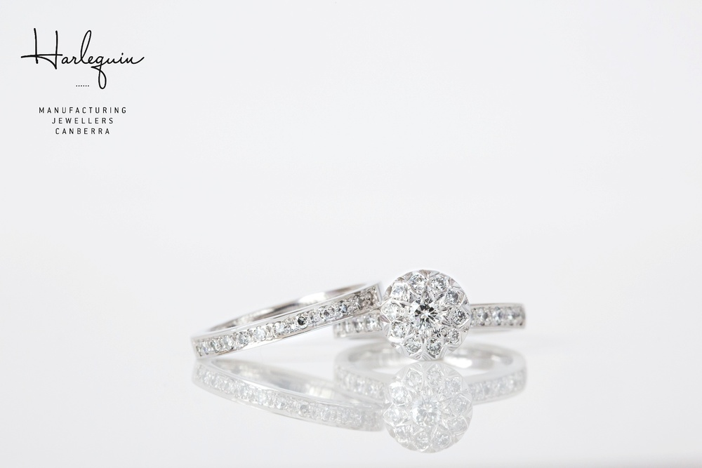 Remodelled illusion set diamond engagemeng ring - Harlequin Jewellers Canberra.jpg