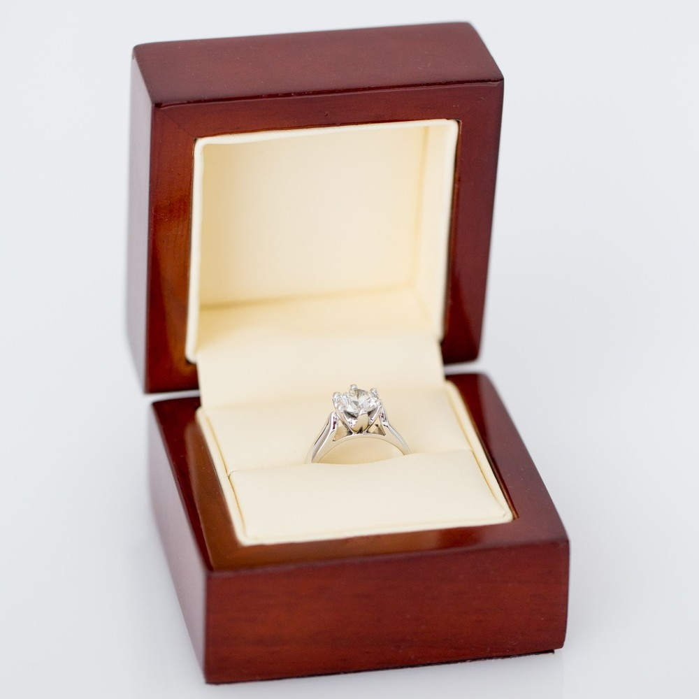 Solitaire diamond engagement ring - Harlequin Jewellers Canberra