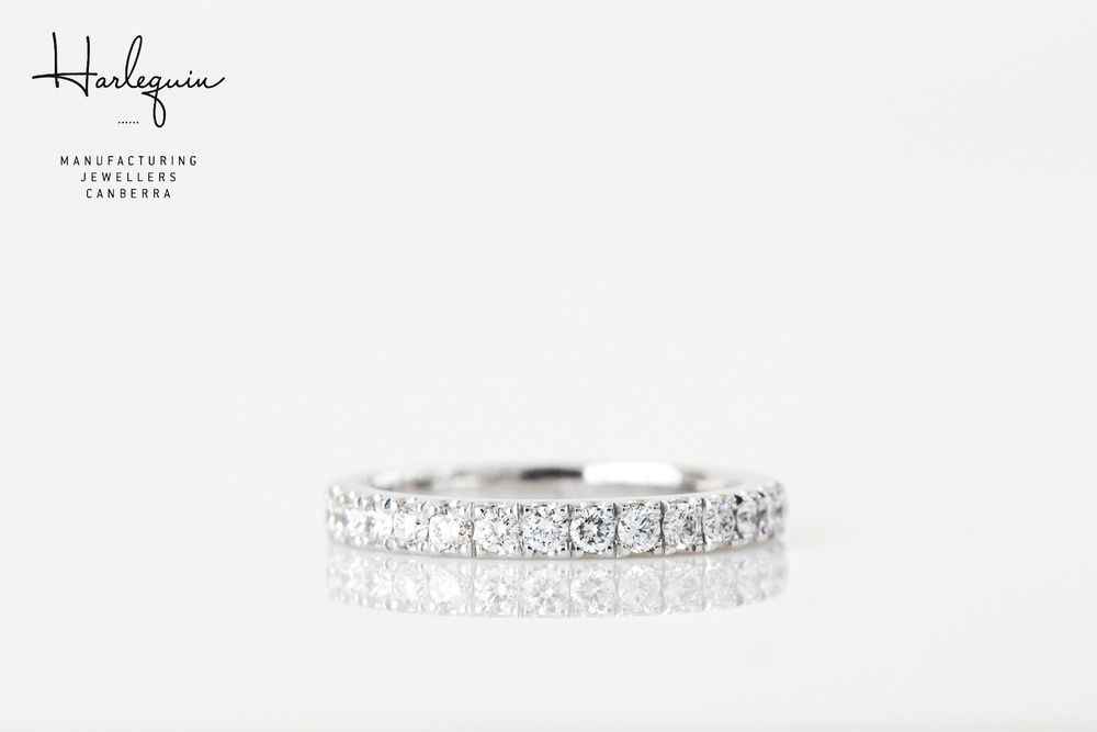 Diamond eternity ring - Harlequin Jewellers Canberra