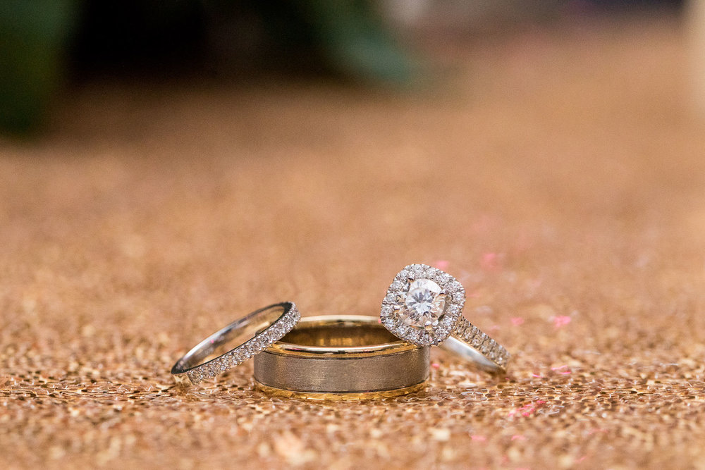 Jason and Maggie engagement and wedding rings Harlequin Jewellers Canberra