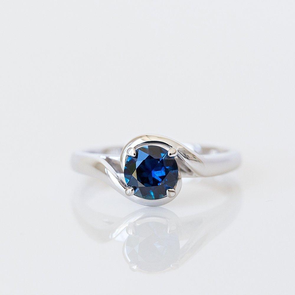 Australian sapphire engagement ring Harlequin Jewellers Canberra