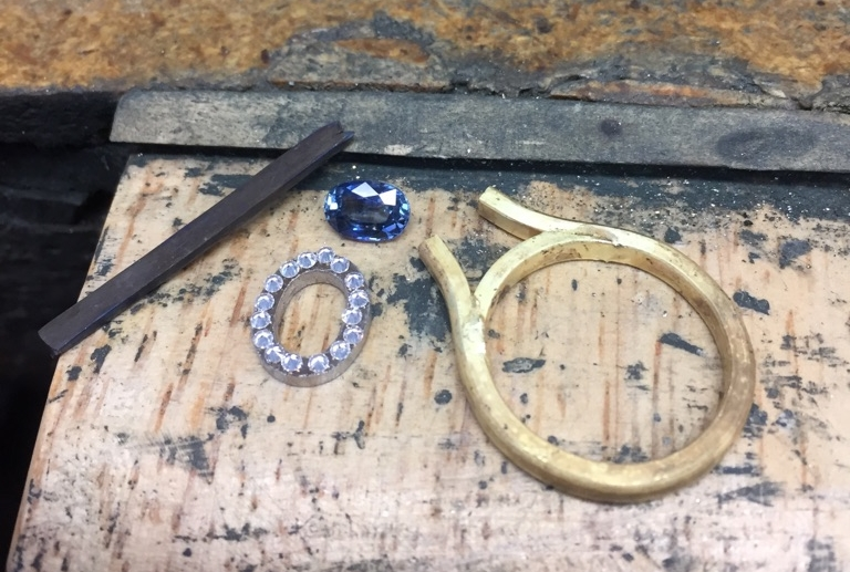 Behind the scenes creating Amne and Osman's engagement ring.
