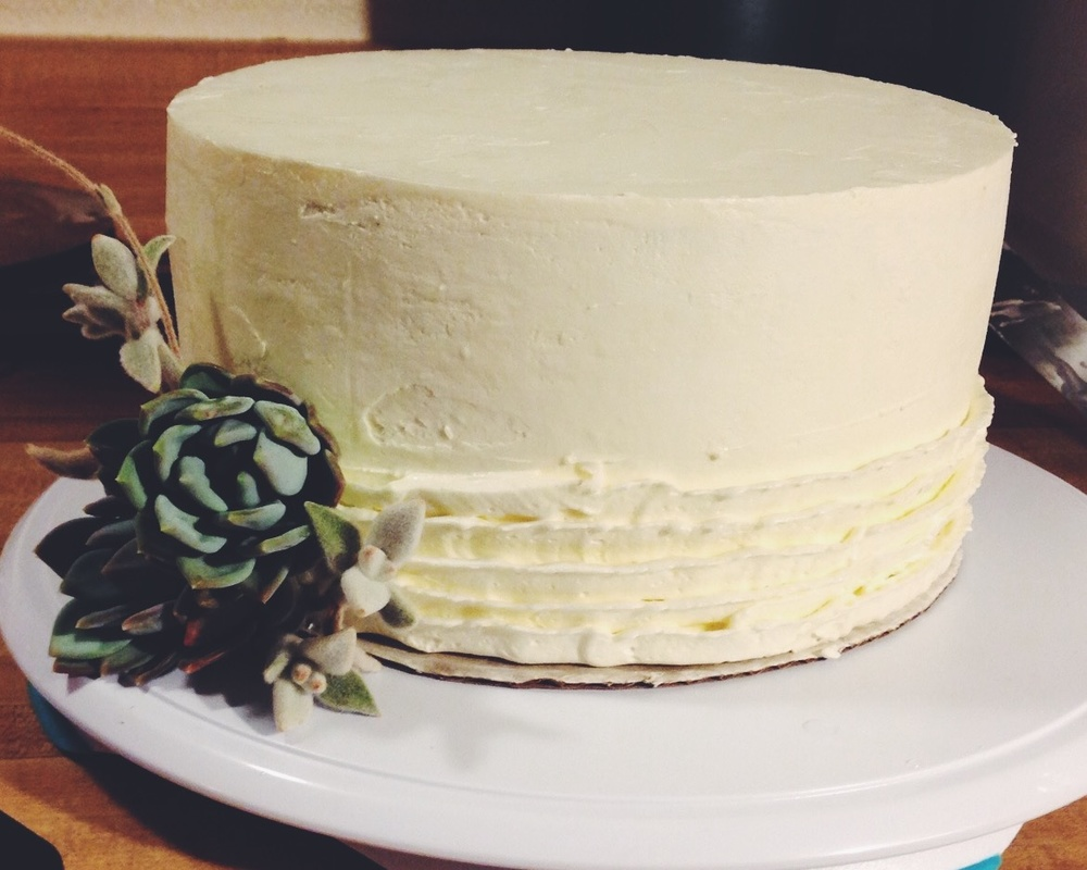 A coconut gluten free cutting cake for a Santa Barbara elopement.
