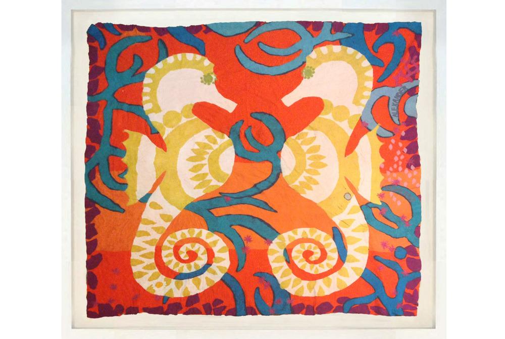 Felt Wool art Seahorses orange lrg.jpg