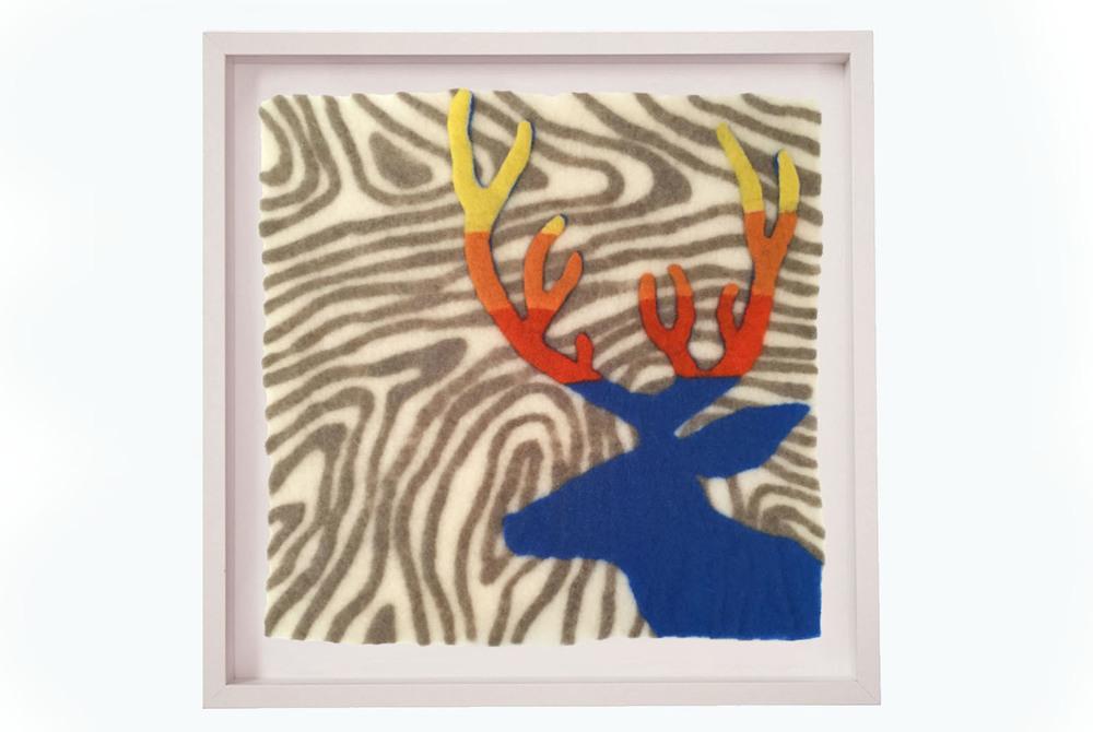 felted wool art Deer Profile Block sm.jpg
