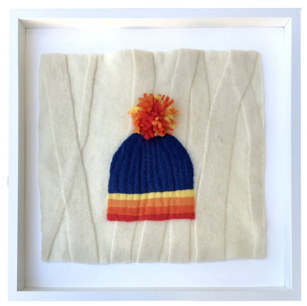 - My Aspen Hat, 20x20 framedA replica of my own available at Alpine Modern Boulder, CO.