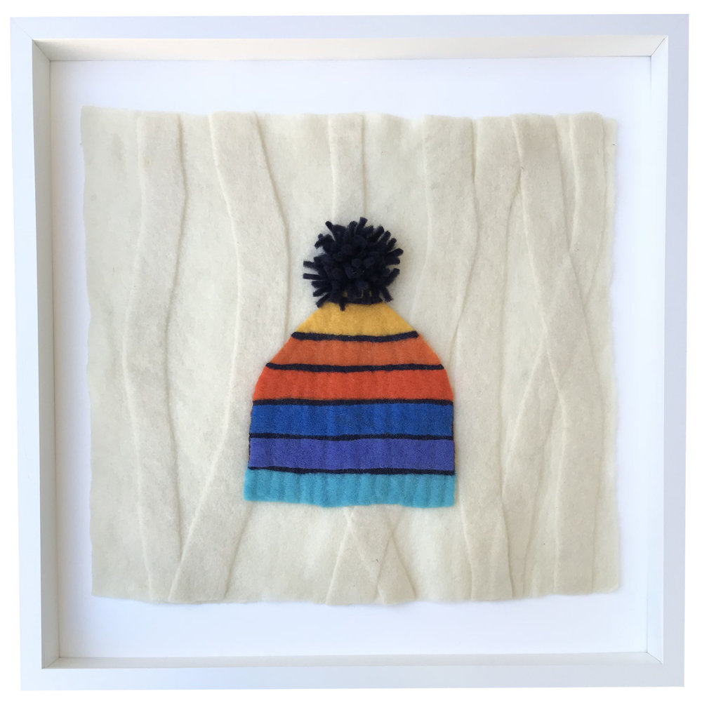 - Rainbow Hat, 20x20 framed