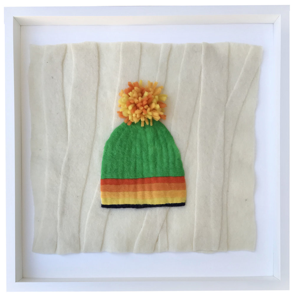 - Kelly Hat, 20x20 framed - SOLD