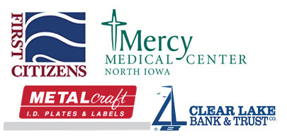 Sponsored by:  First Citizens National Bank  &  Mercy Medical Center-North Iowa    Metalcraft ,  Clear Lake Bank & Trust