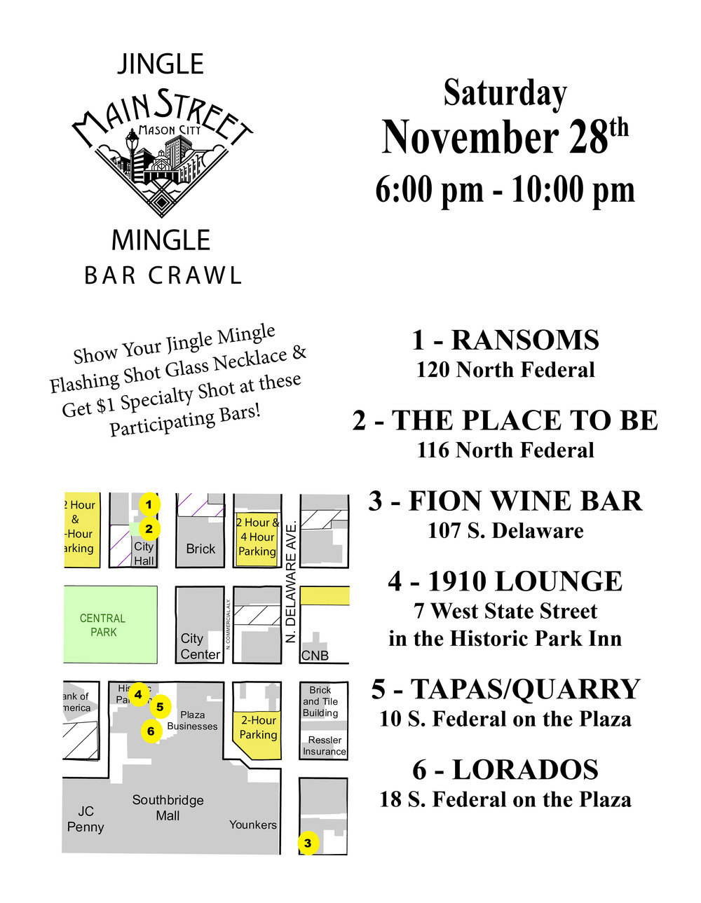 Jingle Mingle Bar Crawl 2015