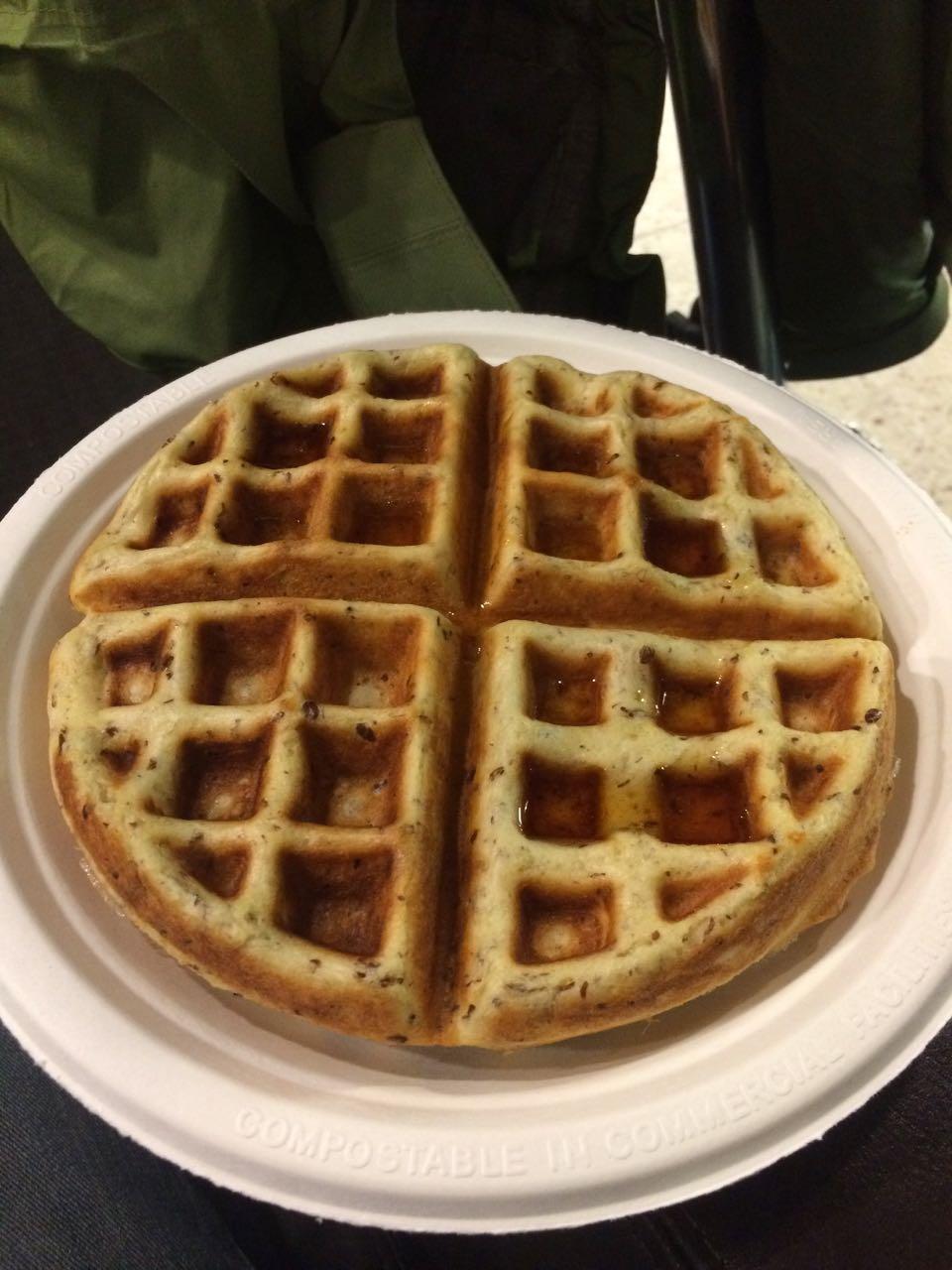 Mmm, vegan gluten-free waffle! - City Cakes, SLC