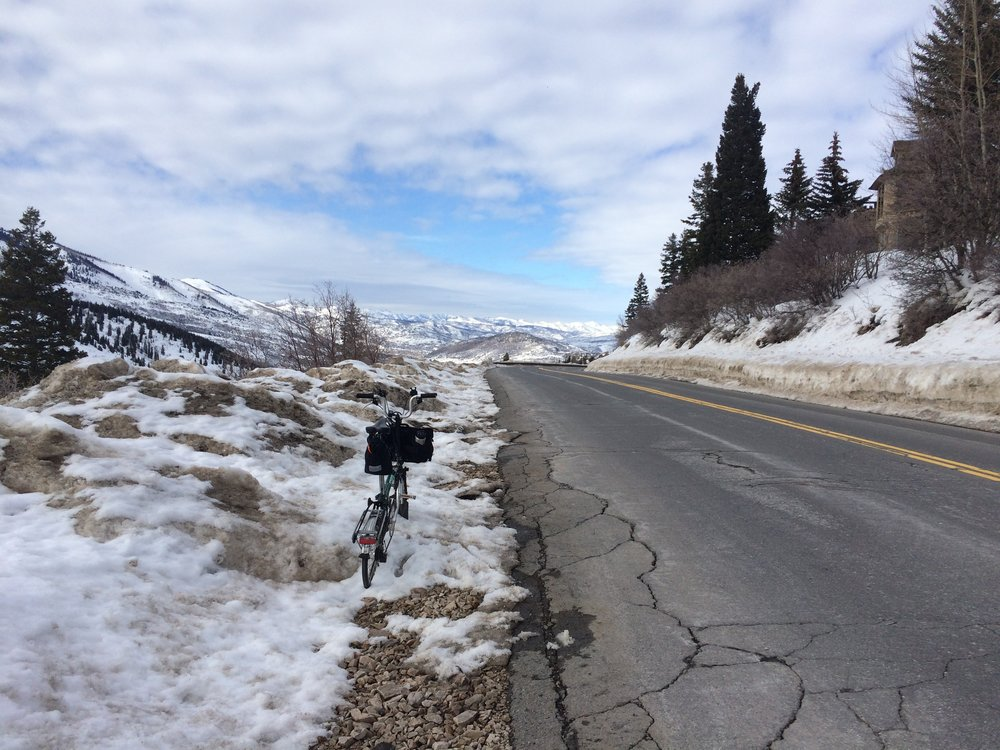 Cruising down Empire Pass, Park City