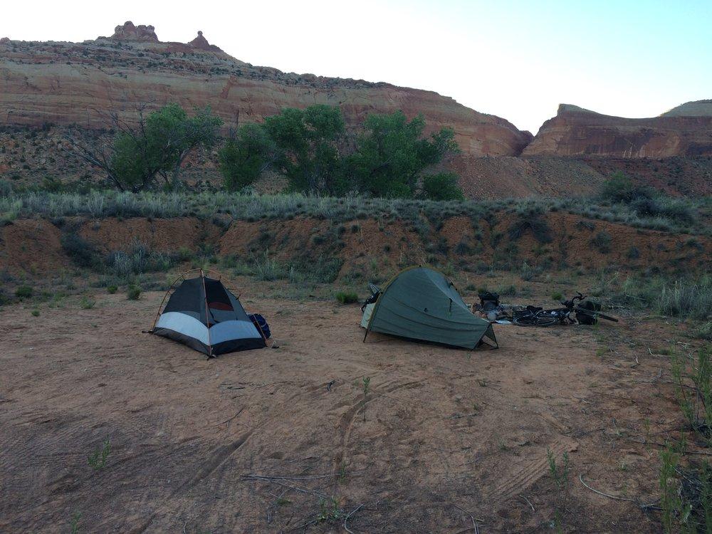 Comb Wash BLM campsite