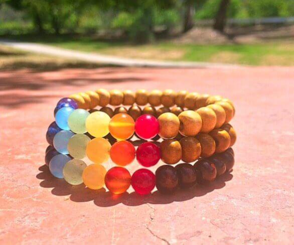 Chakra Wood Bracelet