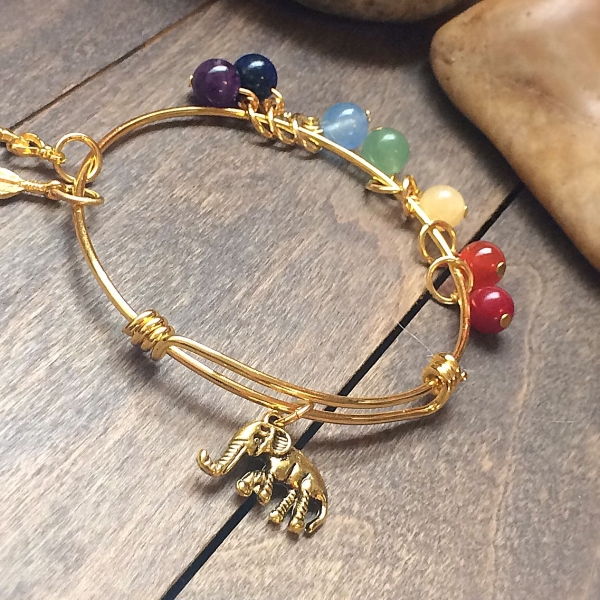 shop bangle meditation bracelet elephant unlock chakra your