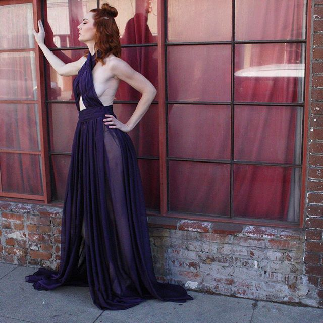 "Throwing it back to that time where @kat_sheridan wore our dress celebrating women. Photo Cred- @danixdanger From the ""Seeds"" collection. #melyndavalera #seeds #fashion #feminist #womenempowerment #empowerment #girlpower #couture #handmade #model"