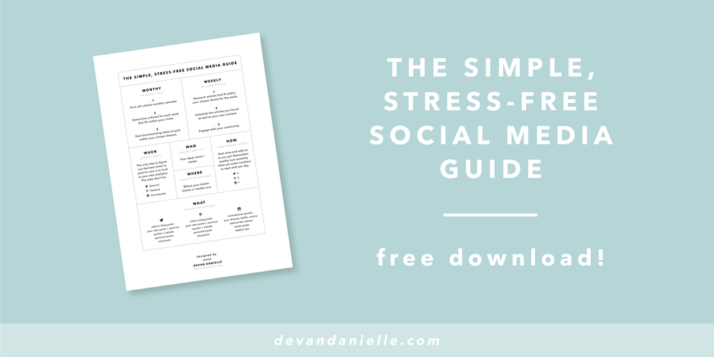 Devan Danielle Free Bonus Download Simple, Stress-Free Social Media Guide