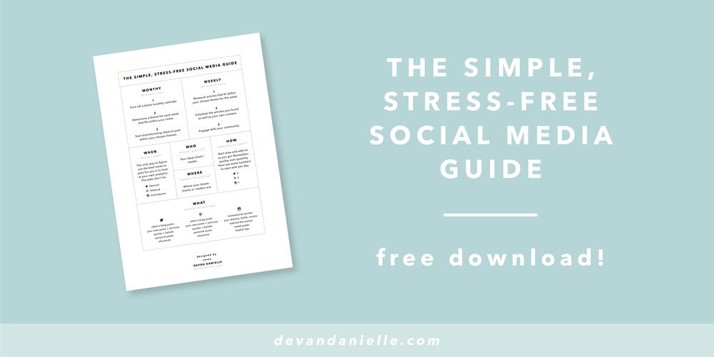 Devan Danielle Free Bonus Download Simple, Stress-Free Social Media Guide