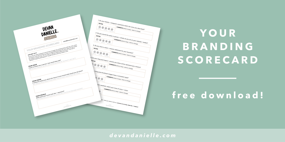 Devan Danielle - Your Branding Scorecard