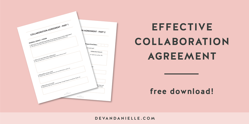 How to have an effective collaboration with bonus for Collaboration contract template