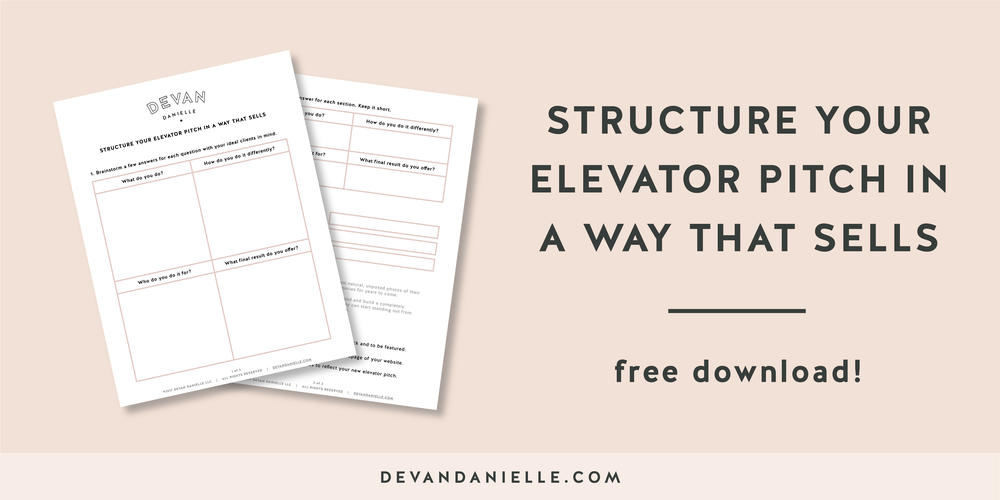 Structure Your Elevator Pitch in a way that sells Free Download