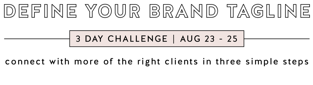 Define Your Brand Tagline Challenge Web Banner