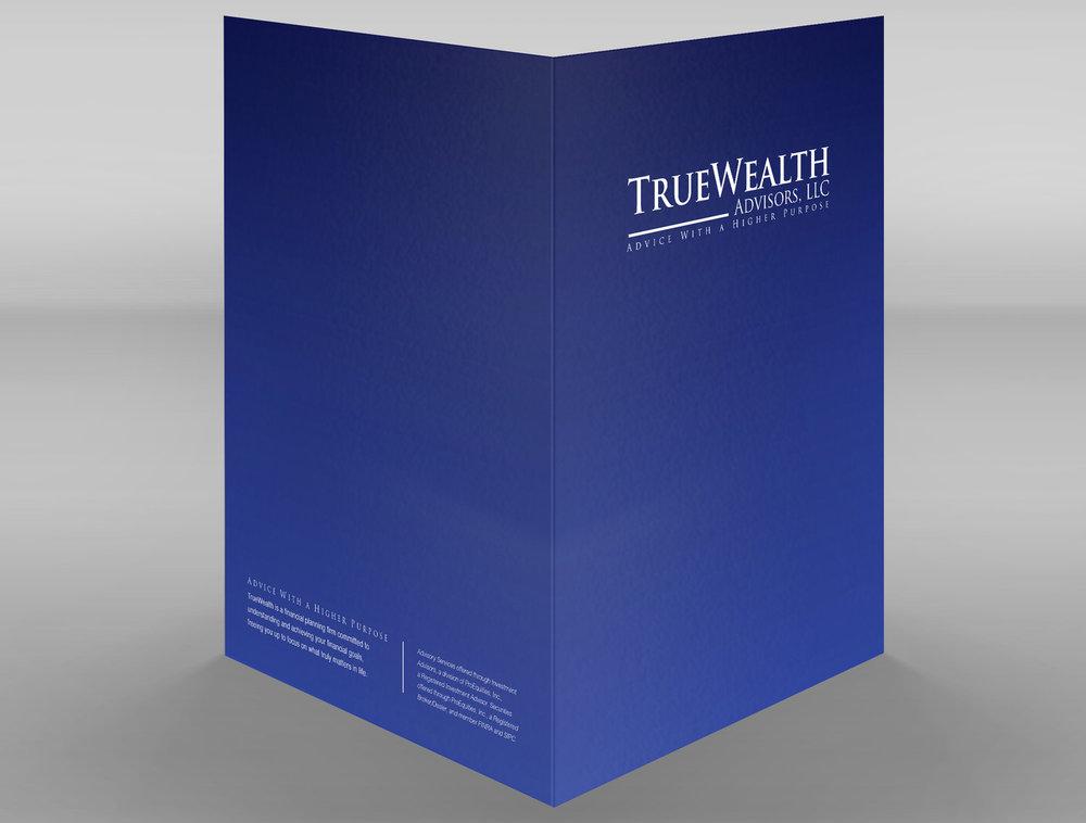 TrueWealth Advisors, LLC: Pocket Folder Front & Back