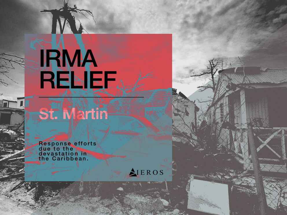 An opportunity has come our way for us to help the people of St. Martin through one of our partners. All branded IEROS items will benefit relief efforts on the island of St. Martin which was devastated by IRMA.  SHOP: Click on photo.
