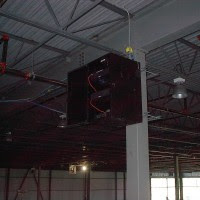 the combined distribution frame cdf and leading to individual cables installed for work area outlets wao to support each piece of equipment such
