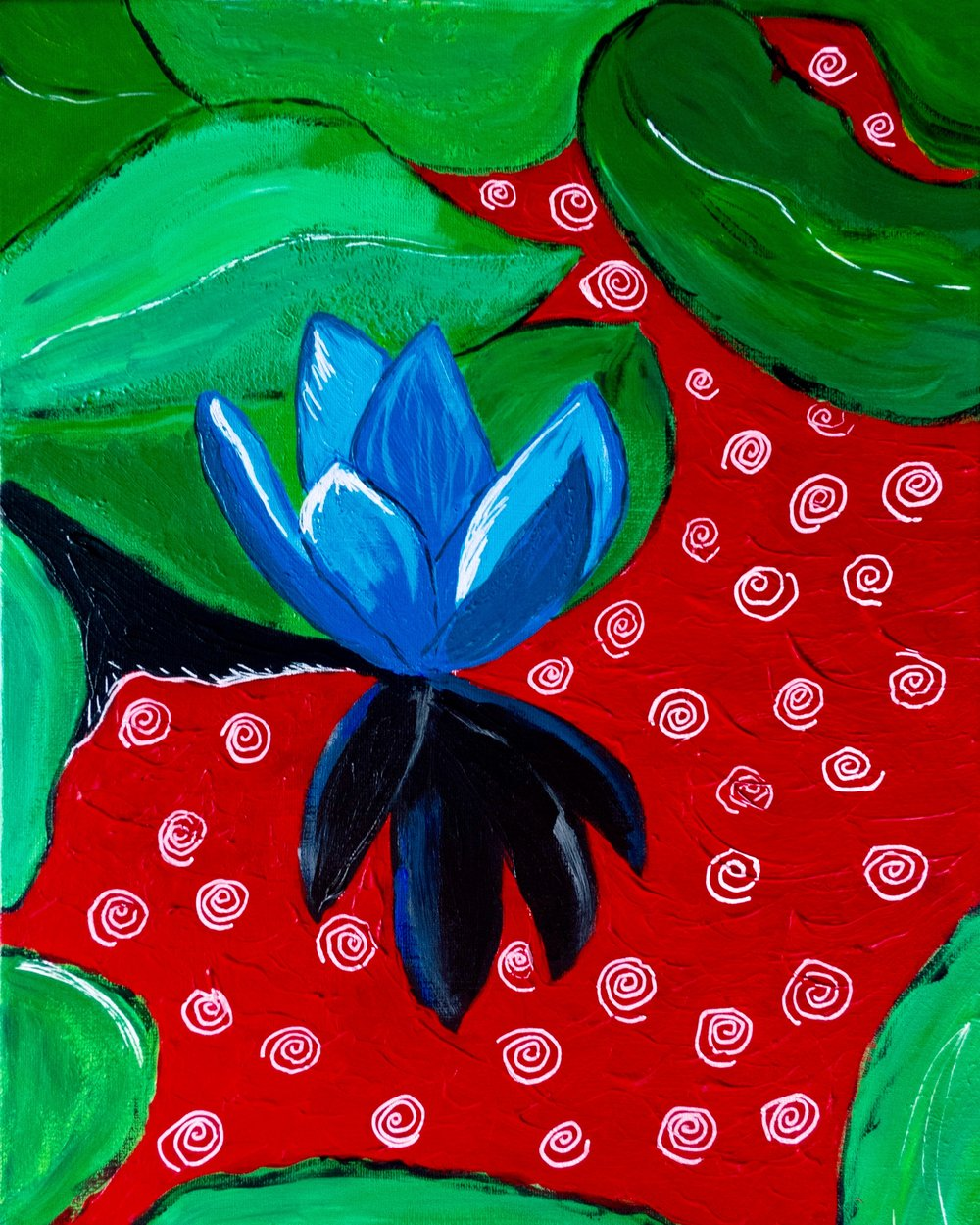 """Blue Lotus"", Acrylic 2016"