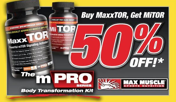 mention you saw this coupon on your next visit to max muscle san mateo or max muscle san francisco (castro)