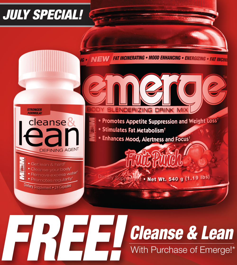 FREE CLEANSE & LEAN (24 count) with purchase of any flavor EMERGE!