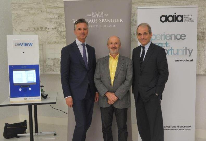 Dr. Werner G. Zenz (Vorstand Bankaus Spängler), Dr. Johann Hansmann (Business Angel) Dr. Helmut Gerlich (Vorstand Bankaus Spängler)
