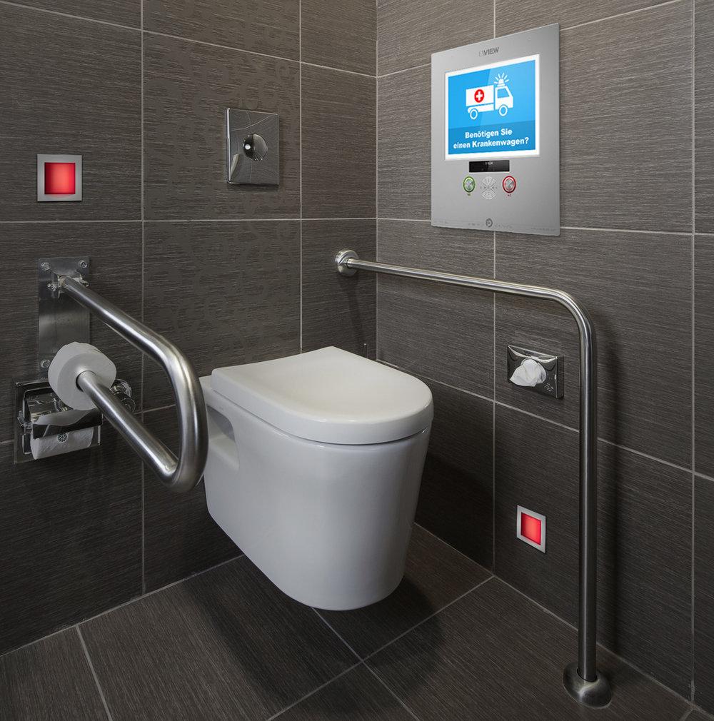 Das VIEW PUBLIC Modell wird z.B. in Salzburg in öffentlich Toiletten