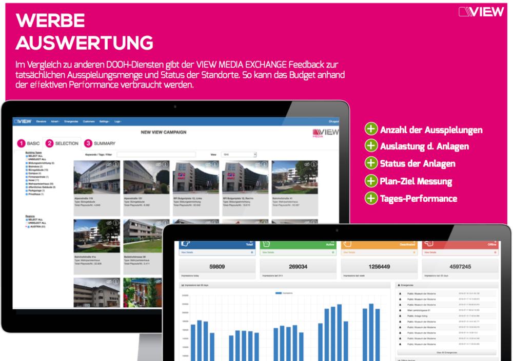 Wir verwalten Ihre Kampagnen über unsere High-Performance Software VIEWAPP 2.0  > Kampagnen-Management > Auswertung und Erfolgsmessung > Verteilung der Kampagnen auf gewünschte Regionen
