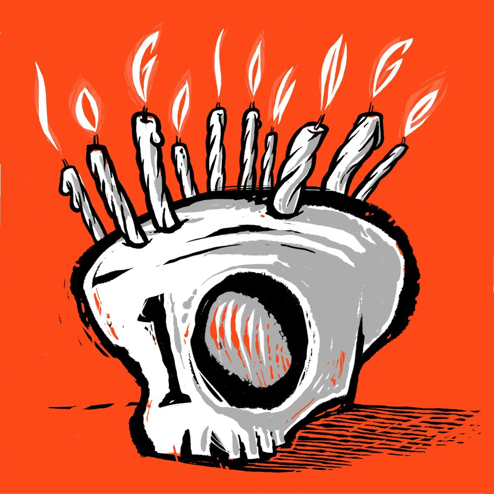 Yes, any excuse to draw a skull and flaming type.