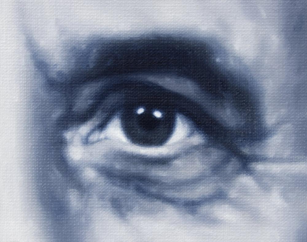 Del av serien  Hågkomst / Remembrance   Oil on Canvas  10 x 12.5 cm  2018