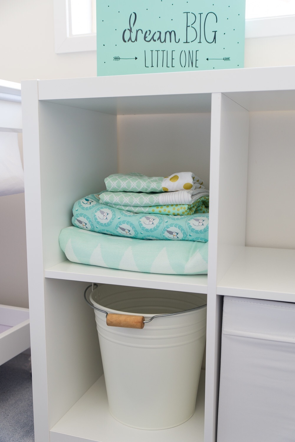 Ikea expedit storage for baby room