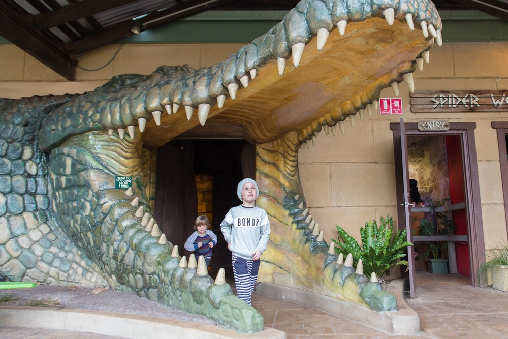 Entrance to the reptile exhibits