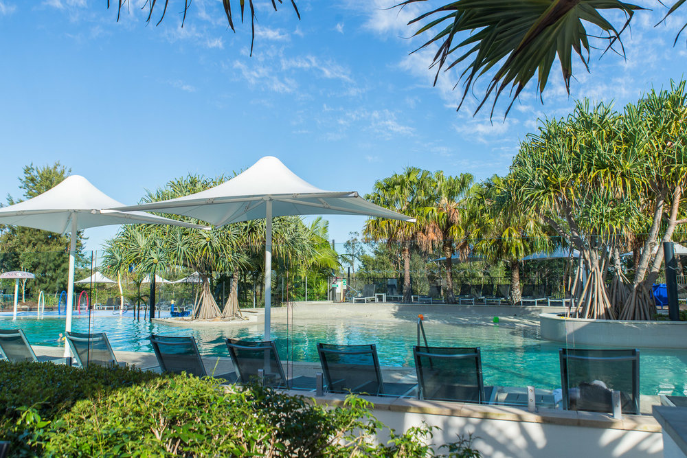 The lagoon pool at the RACV Resort in Noosa