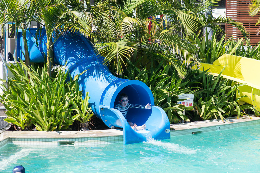 The water slides at the RACV resort