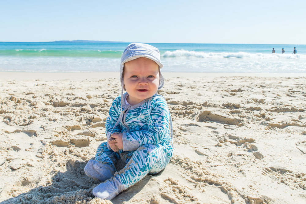 Baby Beau on Noosa beach