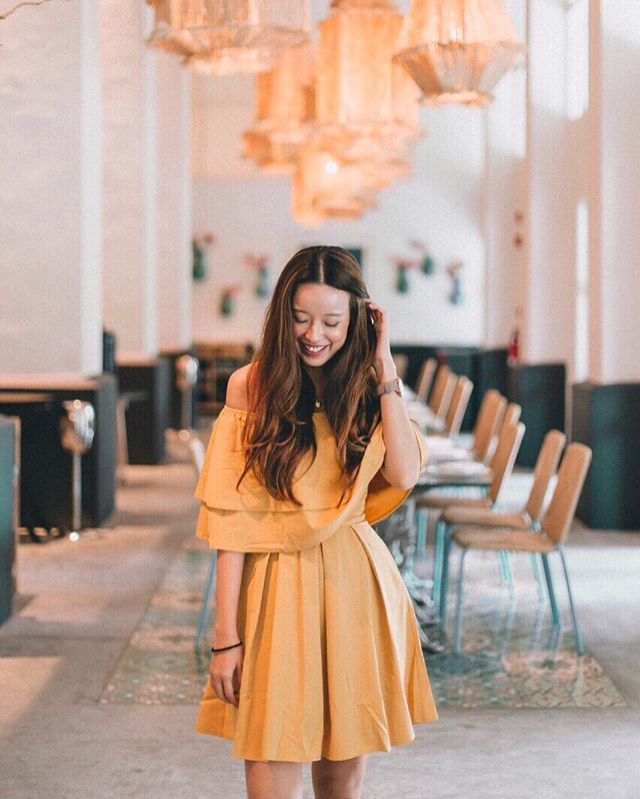 Not sure when I'd stop wearing yellow but this @qlothe dress 🌼✨ — 📷: @lensofmira