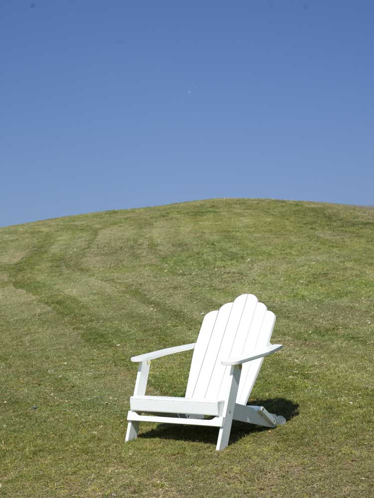 chair on a hill on its own…