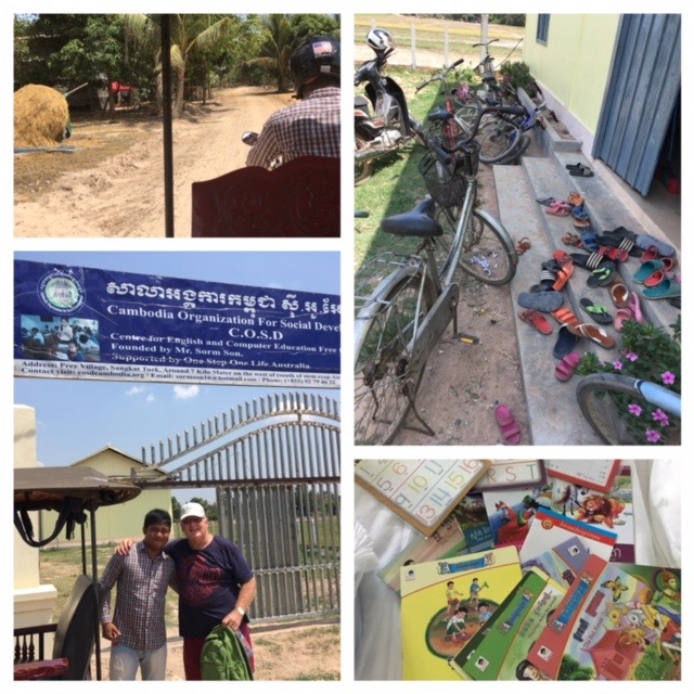 Taking some new books and bits to the school, happy teachers and students. A big thank you to our wonderful tuk tuk driver Voleak for taking crazy Aussies anywhere they want to go, on crazy roads int he crazy heat