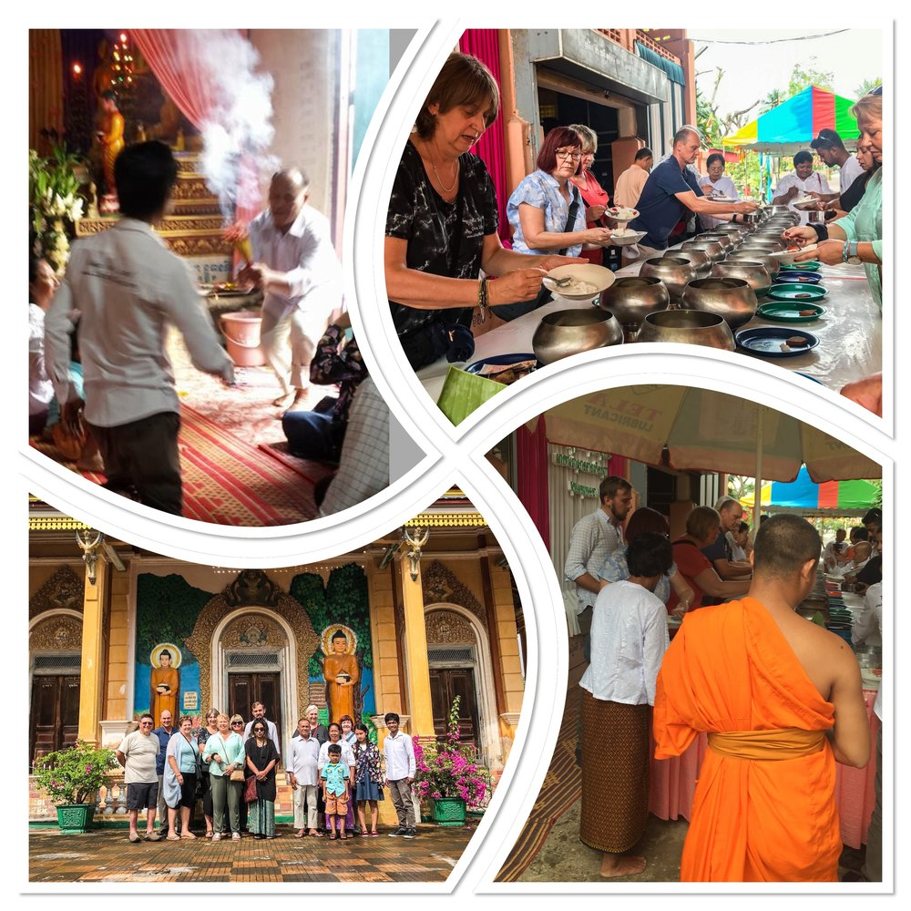 Celebrating Pchum Ben, Battambang- thank you so much to Pheakdey's wife's parents for inviting us.