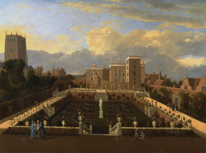 Figure 2: Unknown artist, Pierrepont House, Nottingham, ca. 1705, Oil on canvas, Yale Center for British Art, Paul Mellon Collection