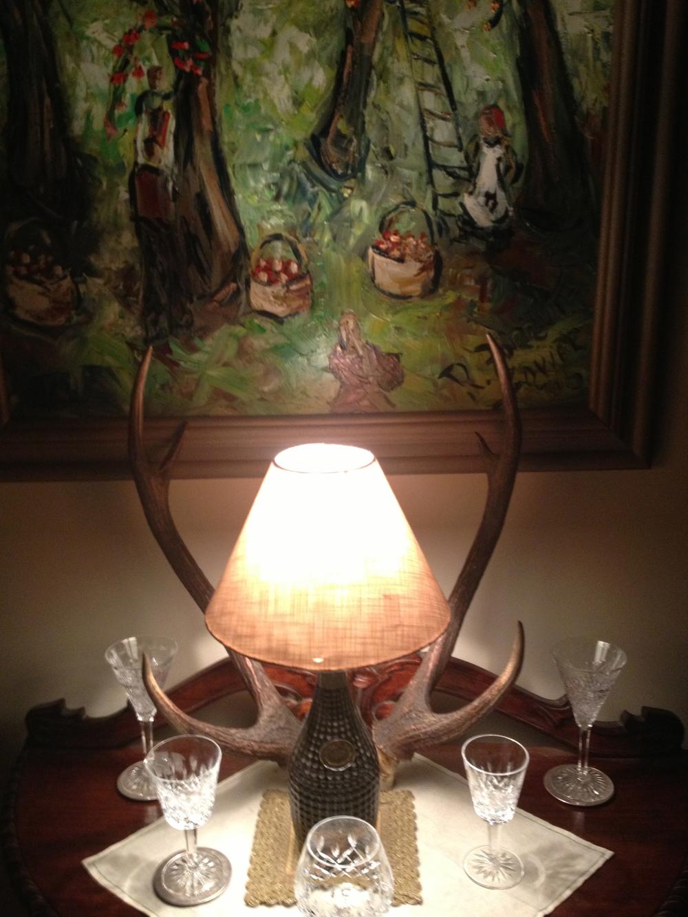Original art works & European crystal glassware.
