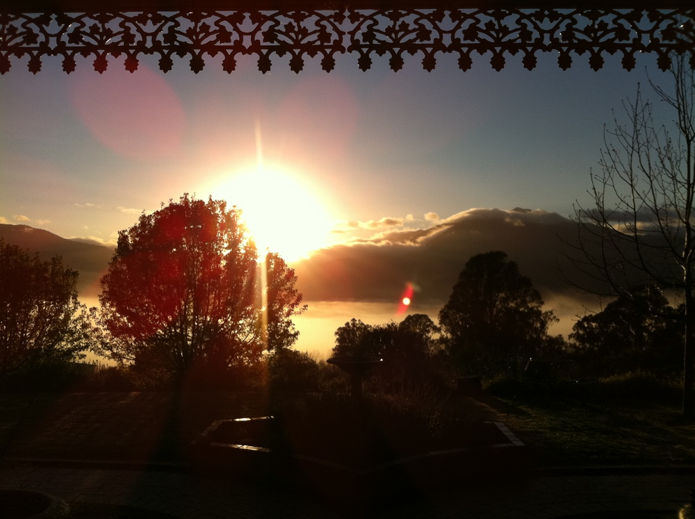 Sunrise from the Lodge.