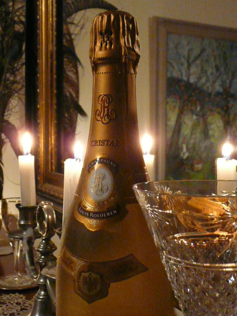 """Celebrate with """"Cristal""""."""